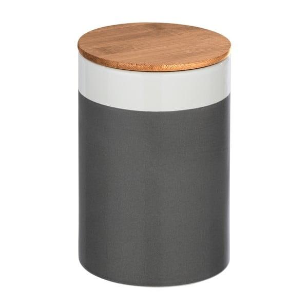 Ceramiczny pojemnik z bambusową pokrywką Wenko Malta, 1,45 l