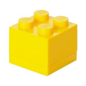 Žlutý úložný box LEGO® Mini Box