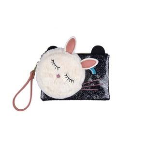 Set bílé peněženky na mince a malé černé kapsičky Tri-Coastal Design Mouse
