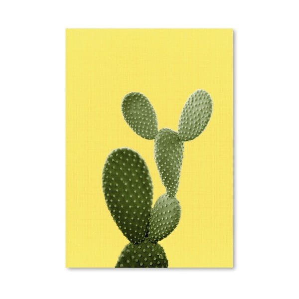 Plakát Cactus On Yellow