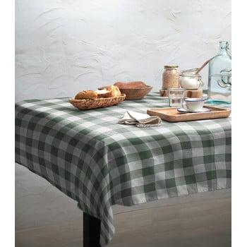 Față de masă Linen Couture Mantel Green Vichy, 140 x 140 cm imagine