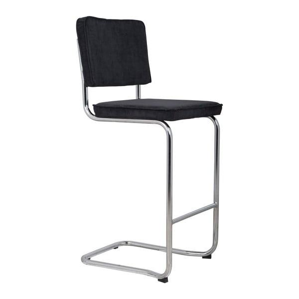 Černá barová židle Zuiver Ridge Kink Rib