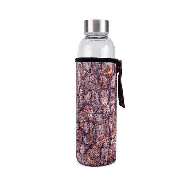 Szklana butelka w neoprenowym pokrowcu Kikkerland Log, 600 ml