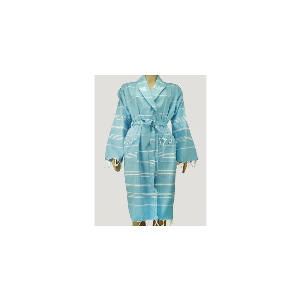 Hammam Style: Modrý Unisex župan Hammam Clasic Style