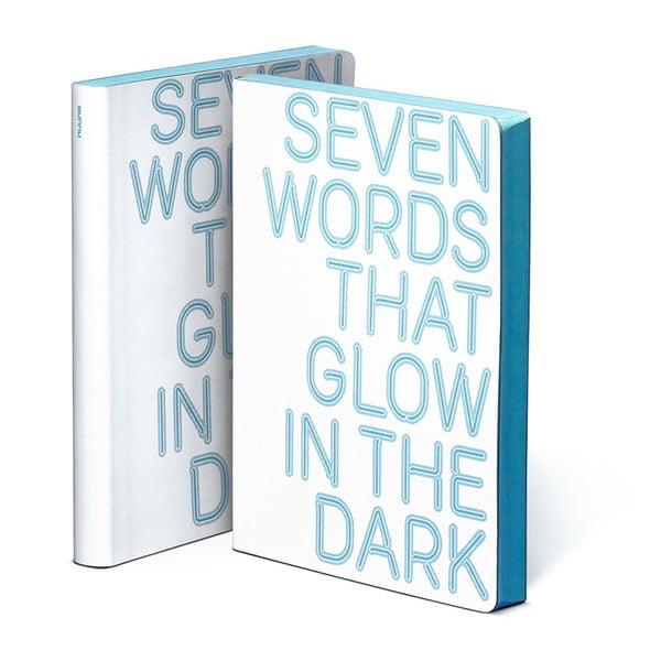 Zápisník Seven Words, 10,8x15 cm