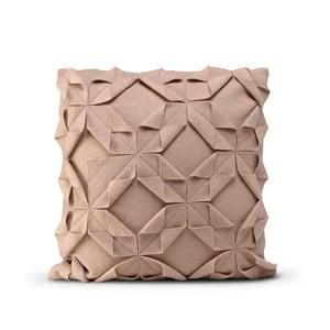 Světle růžový vlněný povlak na polštář HF Living Felt Structured, 50x50cm