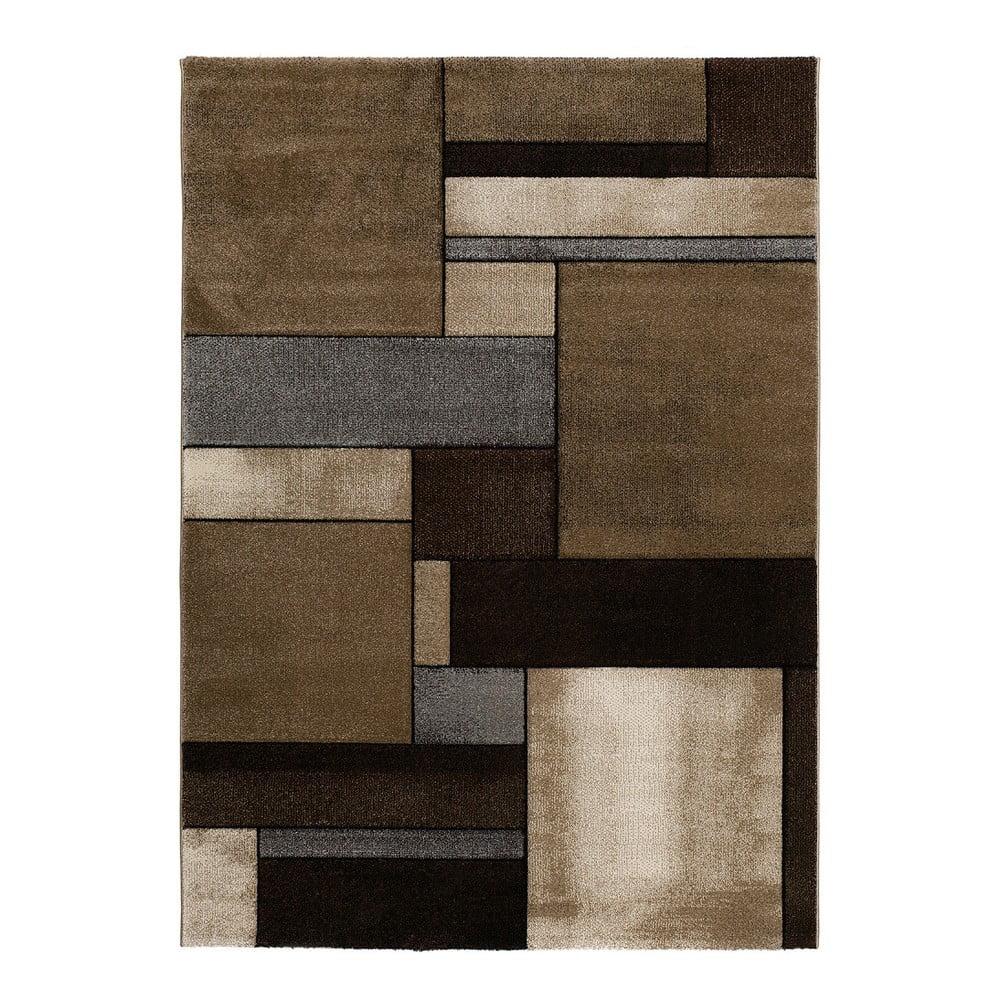Hnědý koberec Universal Malmo Brown, 120 x 170 cm