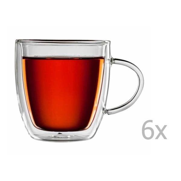 Sada 6 skleněných hrnků na čaj bloomix Yunnan