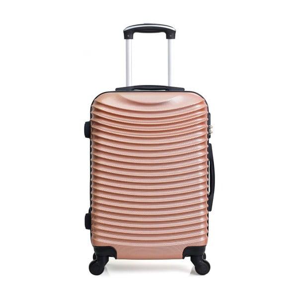 Sada 3 cestovních kufrů v barvě růžového zlata na kolečkách Hero Jasmine