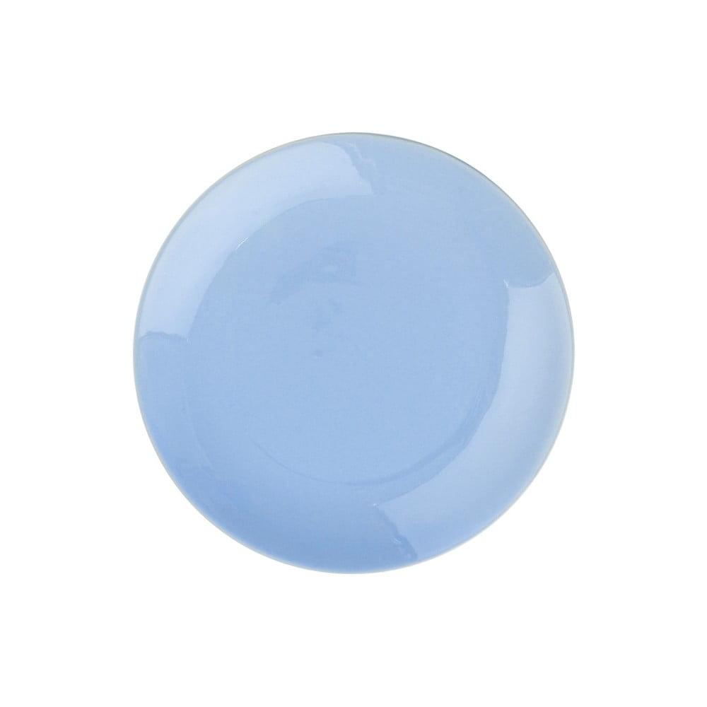 Světle modrý keramický talíř Butlers Sphere, ⌀20,5cm