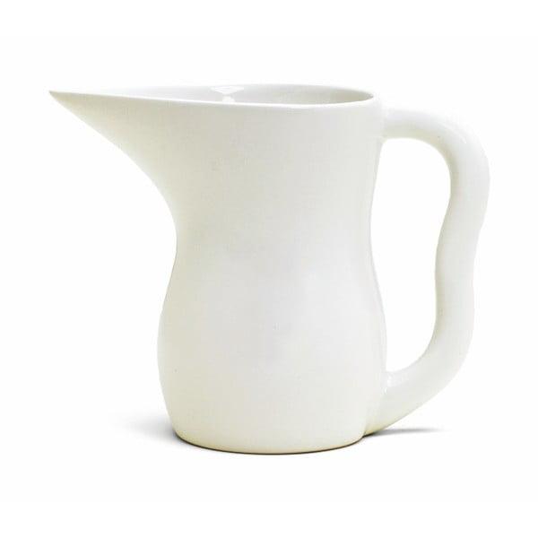 Biela kameninová nádoba na mlieko Kähler Design Ursula, 800 ml
