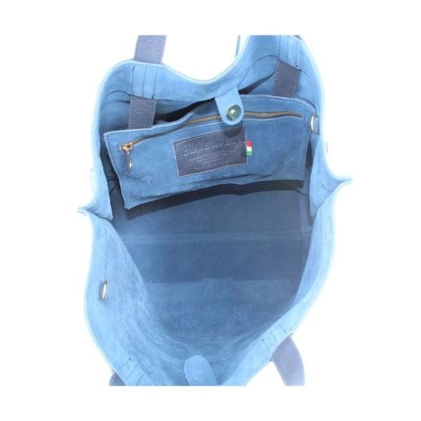 Kožená kabelka Wink, modrá