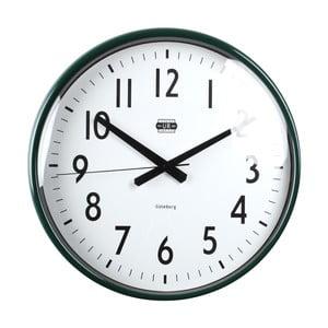 Zelené nástěnné hodiny Strömshaga, Ø 40 cm