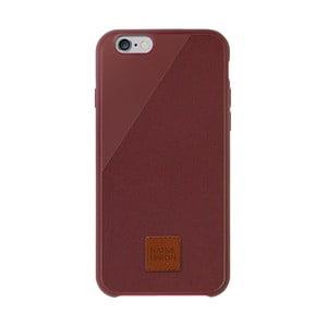 Tmavě červený obal na mobilní telefon pro iPhone 6 a 6S Plus Native Union Clic 360 Case