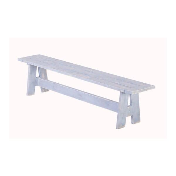 Zahradní lavice Siesta White, 180x33 cm