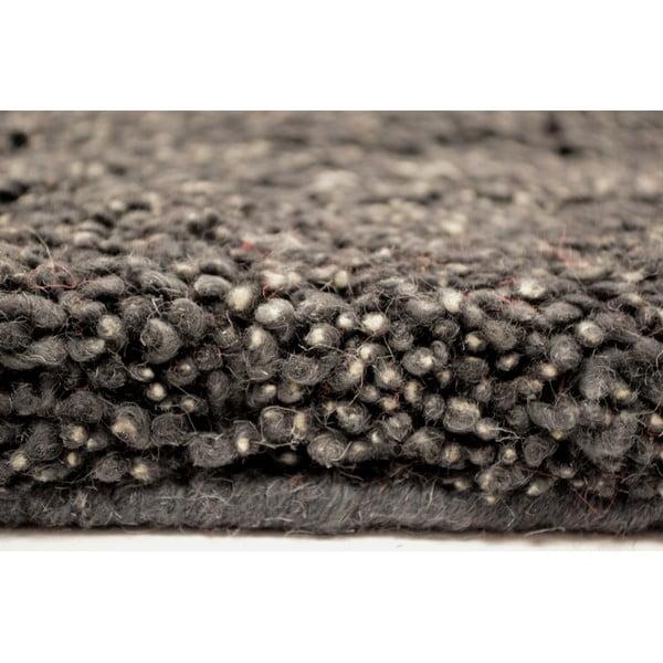 Vlněný koberec Himalaya Antrazite, 70x140 cm