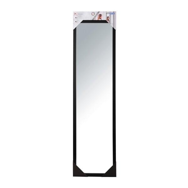 Černé závěsné zrcadlo na dveře Wenko Home, výška 120 cm