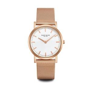 Dámské hodinky v růžovozlaté barvě s bílým ciferníkem Eastside East Village