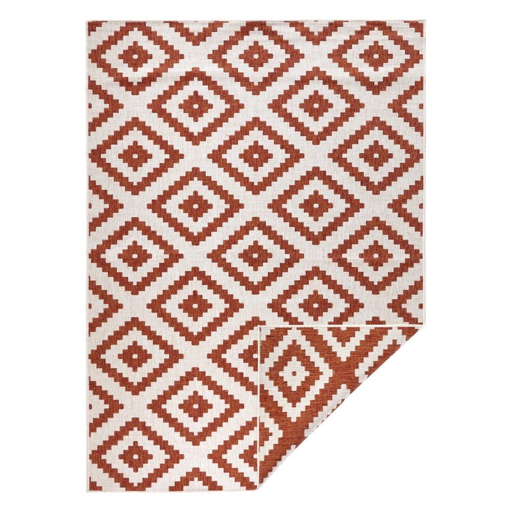 Hnědo-krémový venkovní koberec Bougari Malta, 80 x 150 cm