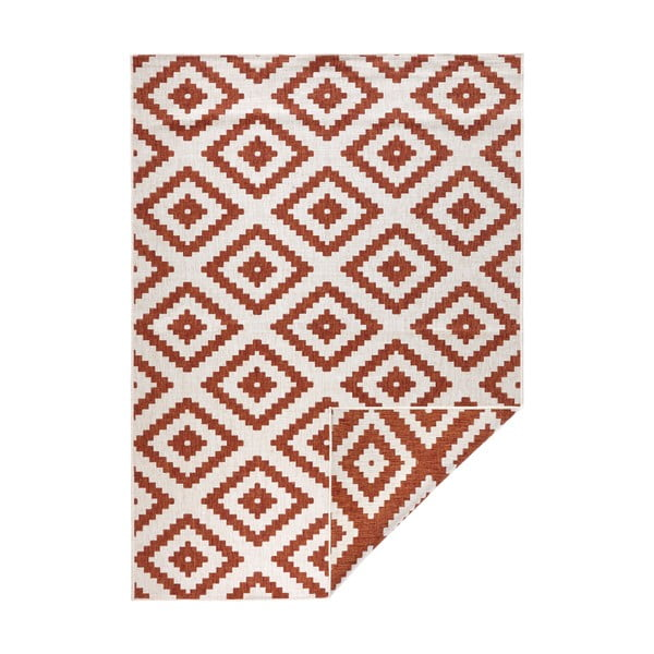 Červeno-krémový venkovní koberec Bougari Malta, 120x170 cm