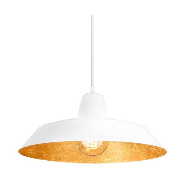 Bílozlaté závěsné svítidlo Bulb Attack Cinco