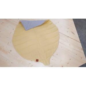 Hořčicově žlutá dětská lněná deka VIGVAM Design Buk