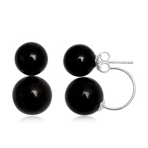 Náušnice Two Pearls Black