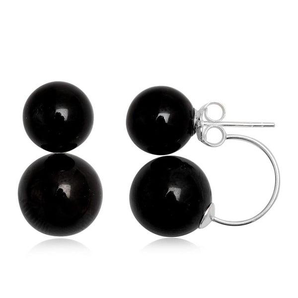 Náušnice Two Pearls Black
