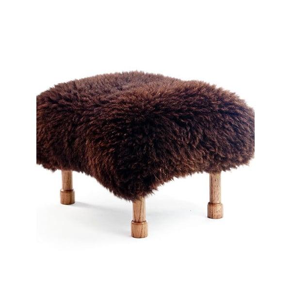 Stolička z ovčí kůže Delyth Chocolate