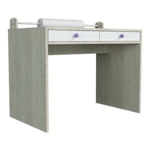 Větší psací stůl s fialovými detaily Dotties