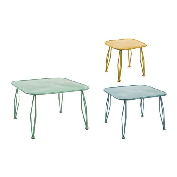 Set 3 stolků Bizzotto Tavolino Gustav