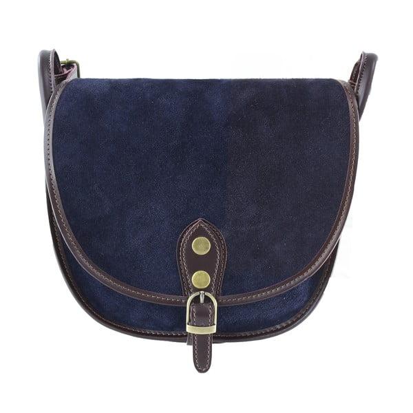 Kožená kabelka přes rameno Gina, modrá