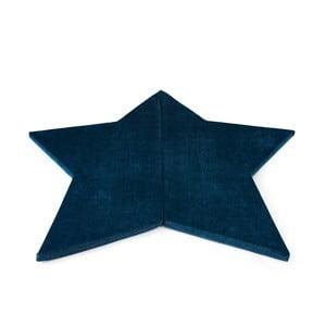 Tmavě modrá variabilní dětská podložka na hraní Misioo Star