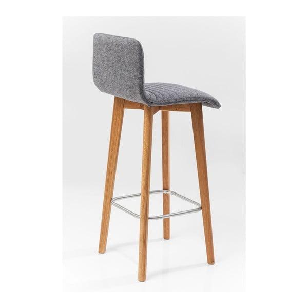 Sada 2 šedých barových stoliček Kare Design Lara