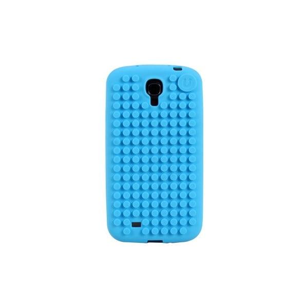 Pixelový obal na Samsung S4, blankytně modrá
