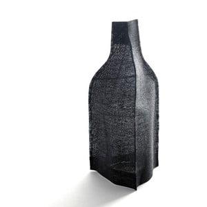 Váza s černým plátěným obalem, 23 cm