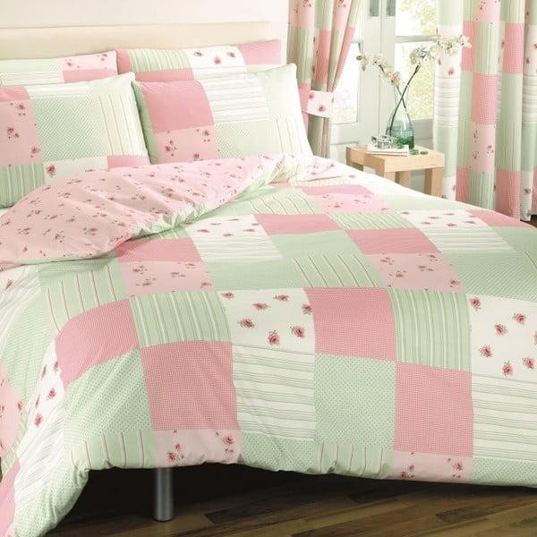 Povlečení Patchwork Pink, 135x200 cm