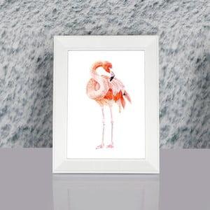 Zarámovaný obraz Dekorjinal Pouff Flamingo, 23x17cm