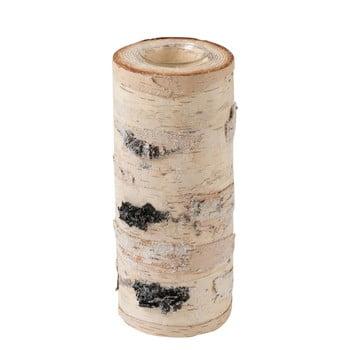 Sfeșnic din lemn masiv de mesteacăn J-Line, înălțime 25 cm