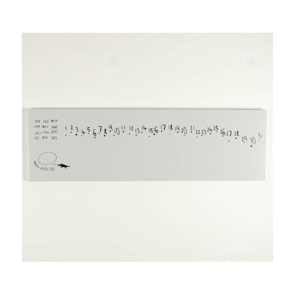 Magnetický kalendář Krok White, 100x30 cm