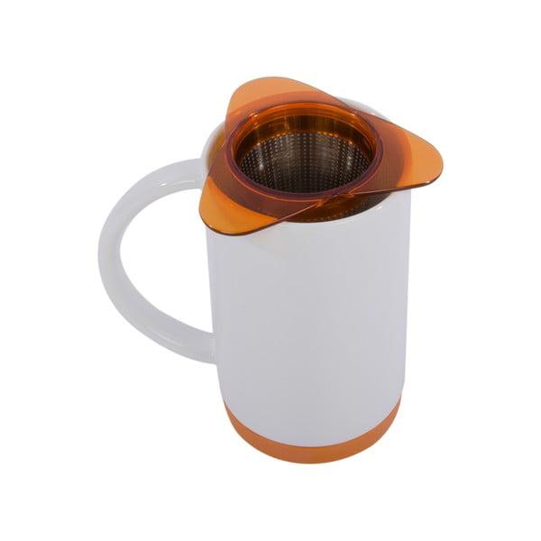 Porcelánový hrnek se sítkem Ramponi Orange