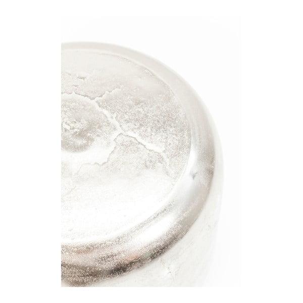 Stolička ve stříbrné barvě Kare Design Lumpy