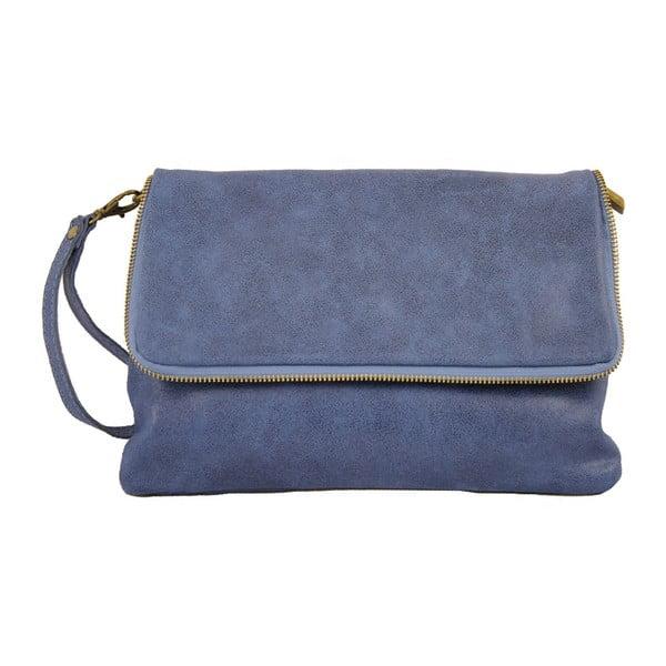 Rosa kék bőr borítéktáska - Chicca Borse