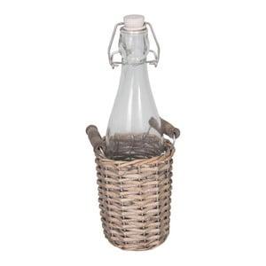 Coș răchită cu recipient sticlă Antin Line Dans