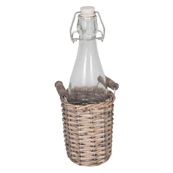 Butelka szklana w koszyku wiklinowym Antic Line Dans