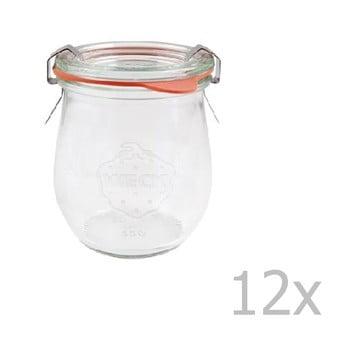 Set 12 borcane cu capac ermetic Weck Tulpe, 220 ml imagine
