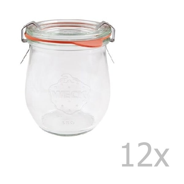 Sada 12 zavařovacích sklenic Weck Tulpe, 220 ml