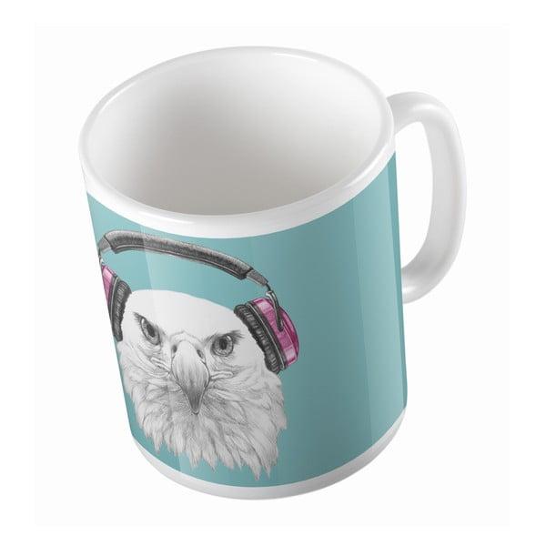 Keramický hrnek Eagle With Headphones, 330 ml