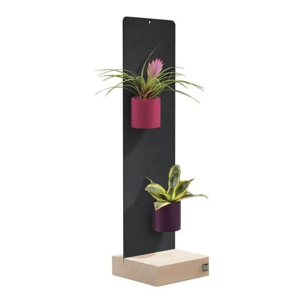 Podstavec pro magnetické květináče, černý, 14x50 cm