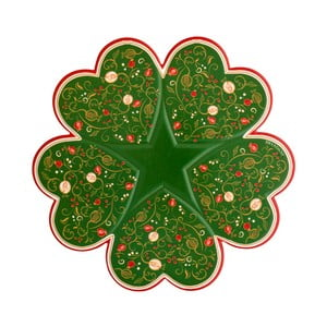 Platou Brandani Tempo di Festa, ⌀ 34 cm, verde